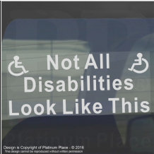 1 x Not All Disabilities LOOK LIKE THIS-Window Sticker for Car,Van,Truck,Vehicle.Disability,Disabled,Mobility,Self Adhesive Vinyl Sign Handicapped Logo